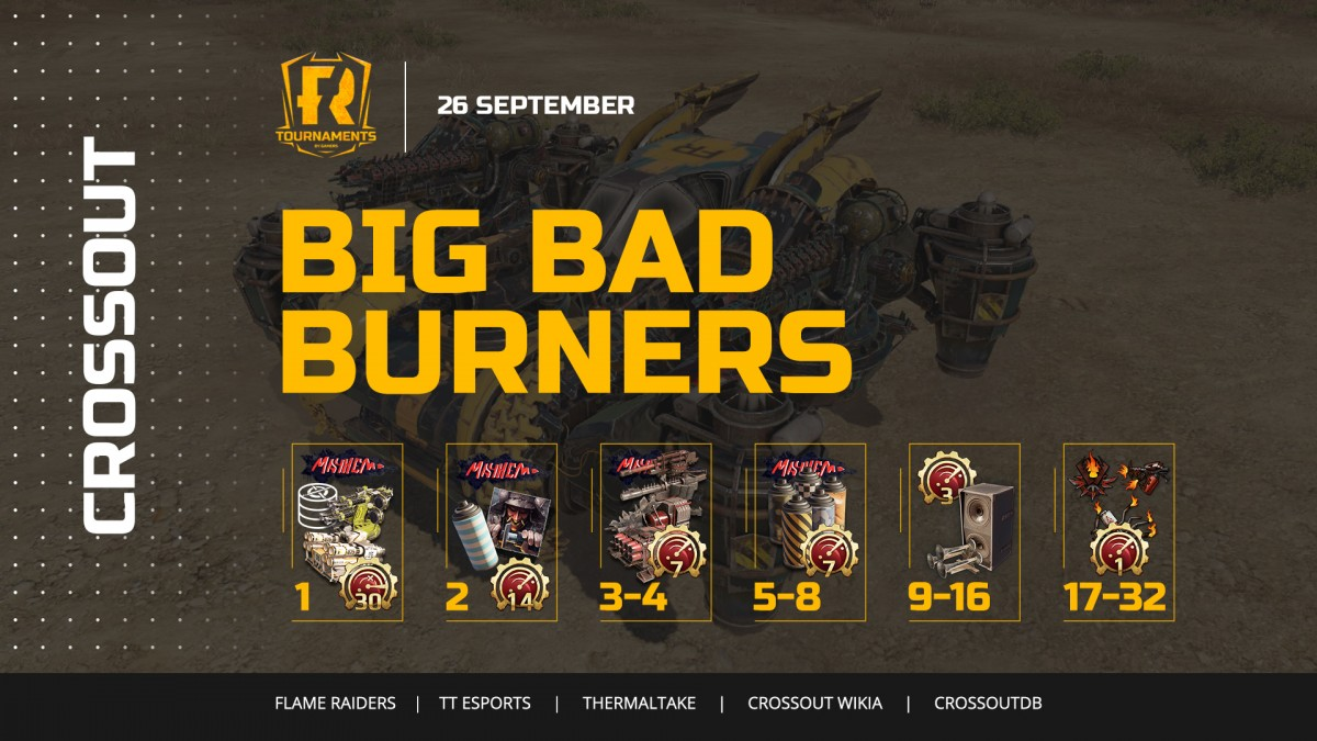 [Crossout] [PC] Турнир Big Bad Burners 5: получи легендарный НК